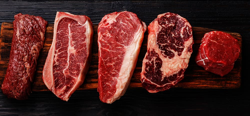 Image of five pieces of steak