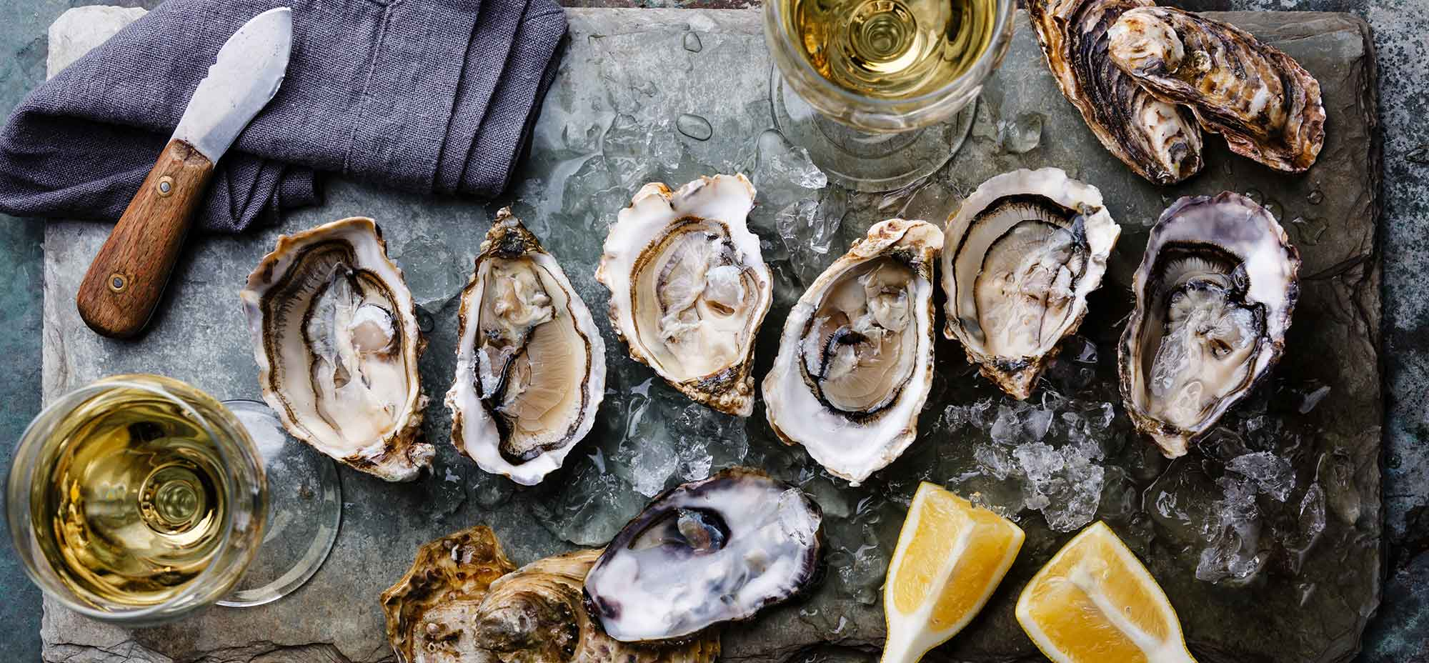 Image is of oysters ready to be served